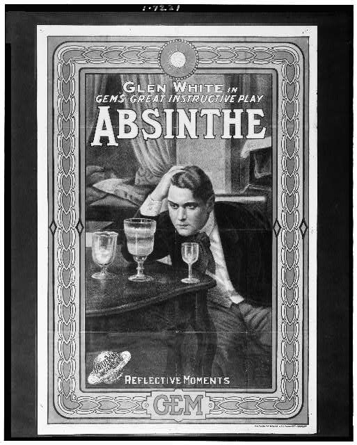Glen White in Gem's great instructive play, Absinthe; Reflective moment (1913)