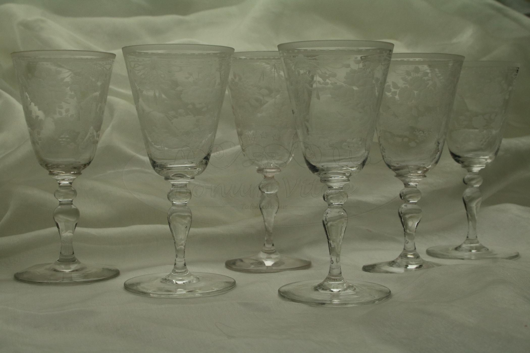 Geëtste glazen - 6 stuks