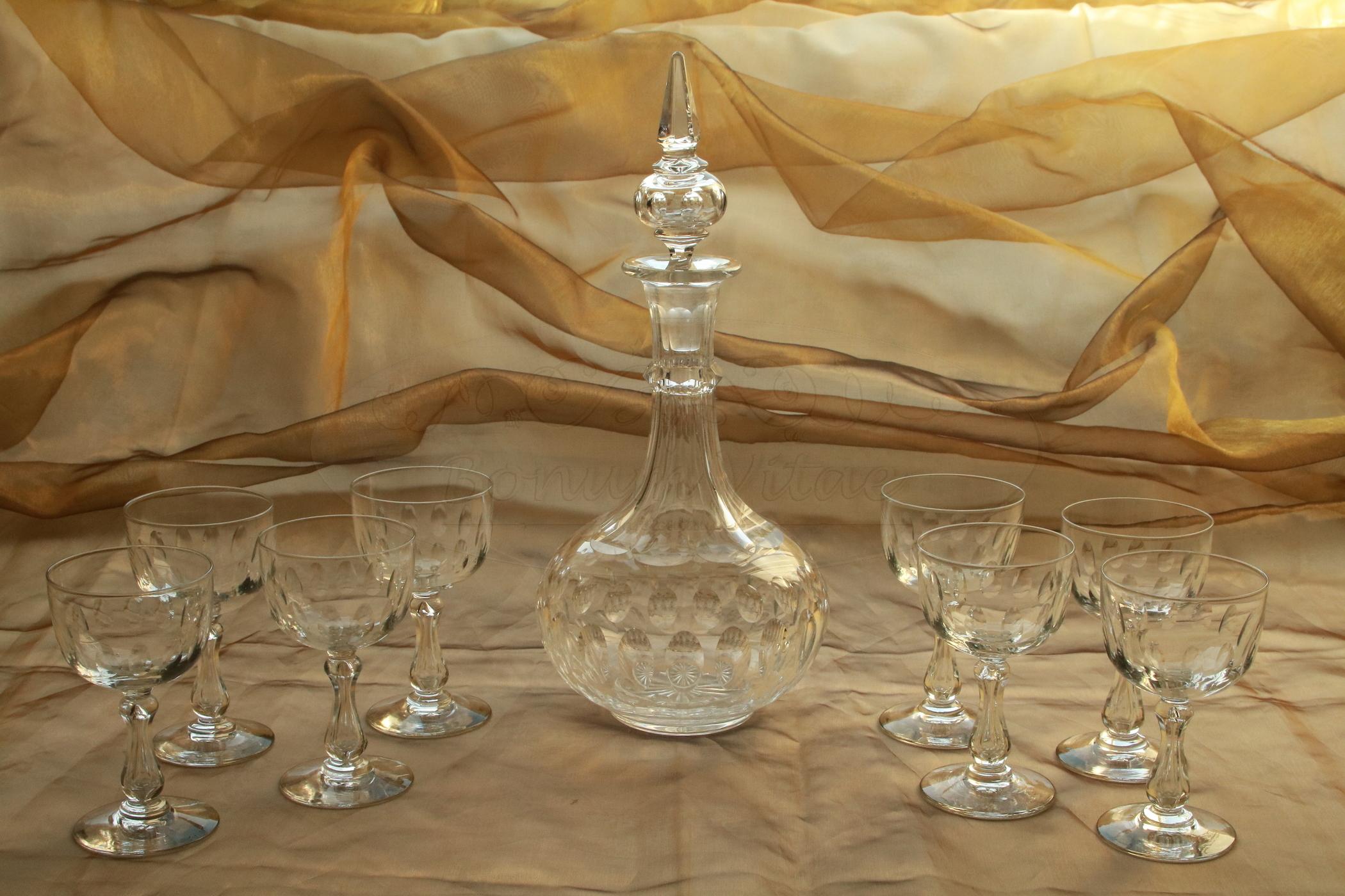 Karaf met 8 glazen