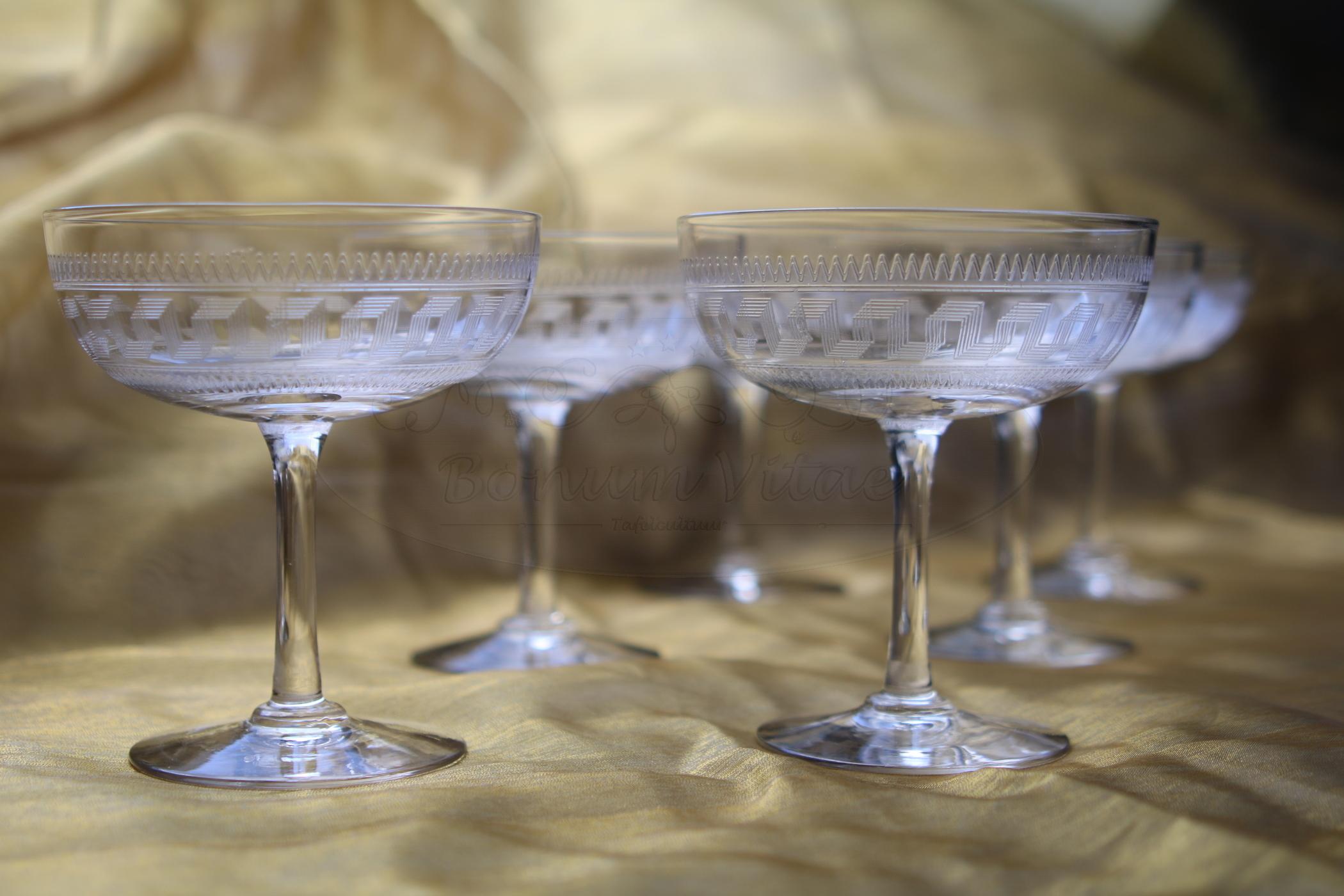 Champagnecoupes Leerdam - 6 stuks