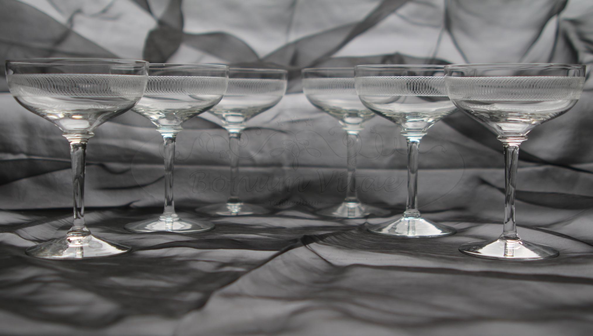 Champagnecoupes - 6 stuks